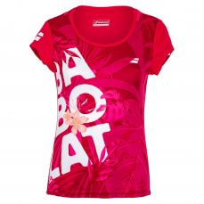 Babolat Damen Exercise Graphic Tee rot